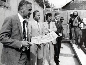 Sparkasse Neunkirchen  |  Grundsteinlegung Filiale Wellesweiler  |  1981