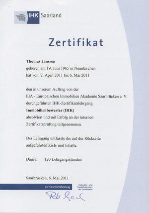 IHK Zertifikat