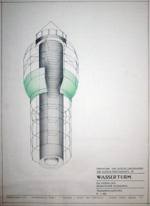 Wasserturm Neunkirchen Tragwerks Isometrie