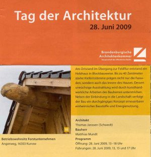 Tag der Architektur 28.06.2009